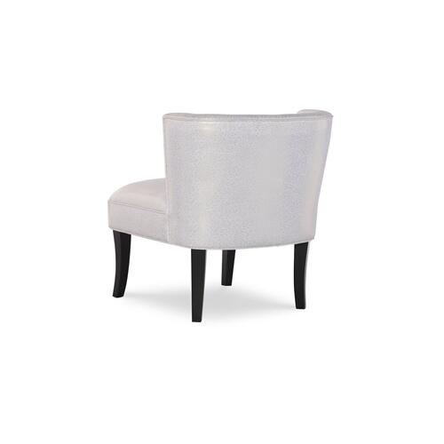 Tufted Back and Armless Accent Chair, Black
