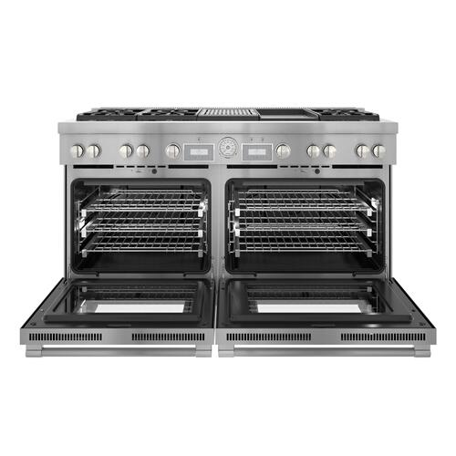 Thermador - Dual Fuel Professional Range 60'' Pro Grand® Commercial Depth PRD606WCG