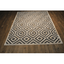 Durable Handmade Natural Leather Patchwork Cowhide PCH159 Area Rug by Rug Factory Plus - 5' x 7' / Gray