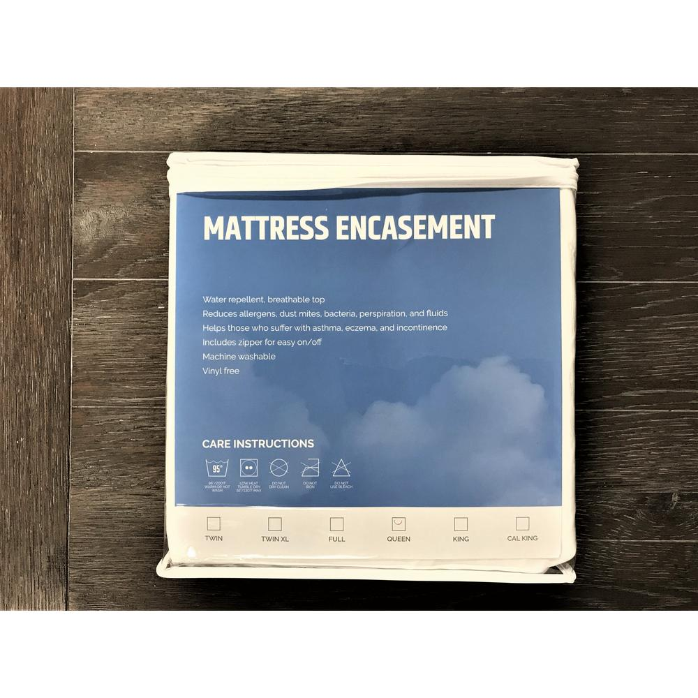 Mattress Protector Foundation, White Esprotector-fm
