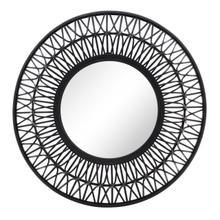 "36"" Bamboo Wall Mirror, Black"