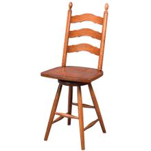"""See Details - 24"""" French Country Ladderback Swivel Stool"""