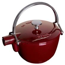 Staub Cast Iron 1-qt Round Tea Kettle, Grenadine