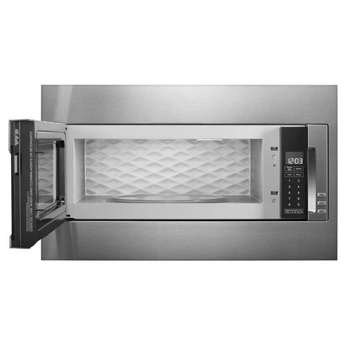 1000 Watt Built-In Low Profile Microwave with Standard Trim Kit - Stainless Steel