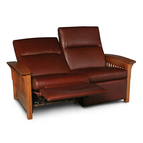 Grand Rapids Loveseat Recliner, Leather Cushion Seat