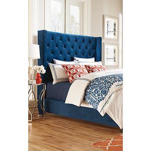 Standard Furniture - Uph Brown Bed, 5/0