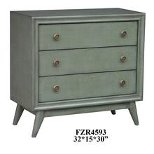 Collier 3 Drawer Moss Green Chest