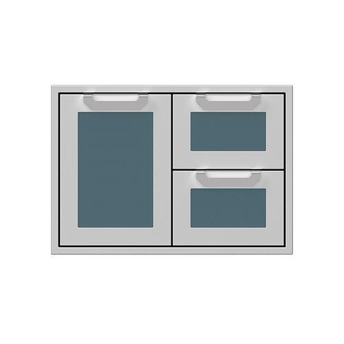 """30"""" Hestan Outdoor Combo Door/Drawer - AGSDR Series - Pacific-fog"""