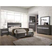 Regata Queen Head/footboard Grey