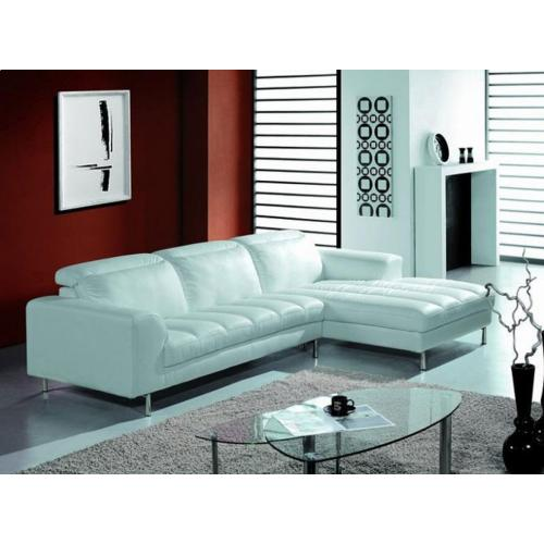 Divani Casa BO3933 White Leather Sectional