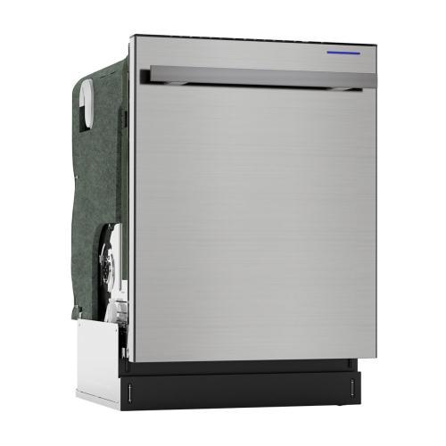 "Sharp 24"" Slide-In Stainless Steel Dishwasher"