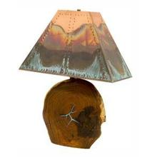 "23"" Mesquite Lamp W/Copper Shade"