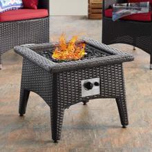 See Details - Vivacity Outdoor Patio Fire Pit Table in Espresso