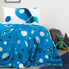 Dreamit - Cosmic Reversible Comforter and Pillowcase, Blue, Twin