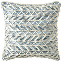 See Details - Retired Herringbone Berber Pillow, BLUE, 18X18