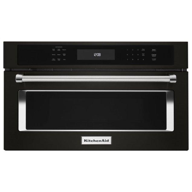 """KitchenAid 30"""" Built In Microwave Oven with Convection Cooking - Black Stainless Steel with PrintShield™ Finish"""
