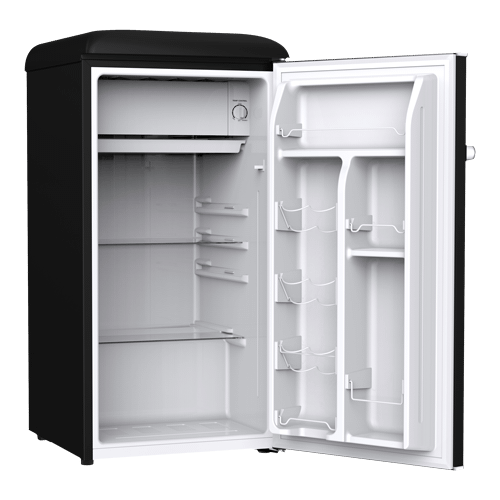 Galanz 3.3 Cu Ft Retro Single Door Refrigerator in Vinyl Black