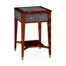 Santos rosewood and anthracite shagreen narrow side table
