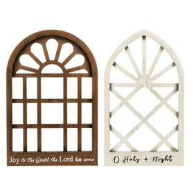 Arched Wall Plaques - Sm. (4 pc. ppk.)