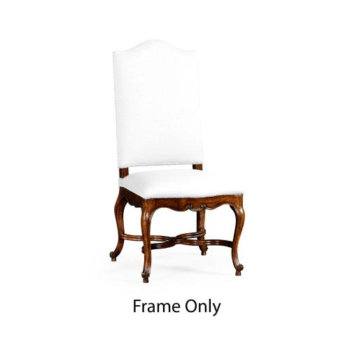 French Baronial Style Country Side Chair, Frame Only