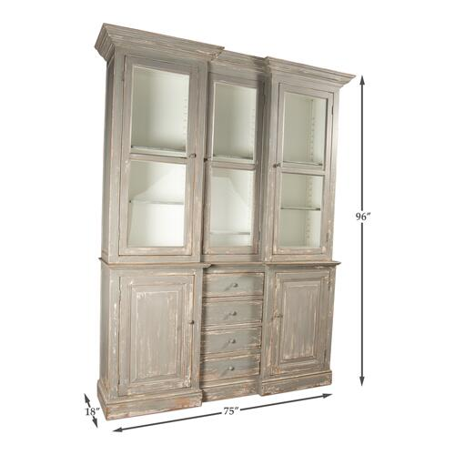 Berkshire Library Bookcase, Grey