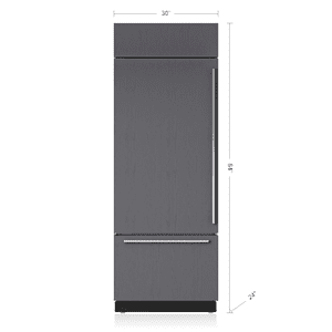 "Subzero30"" Classic Over-and-Under Refrigerator/Freezer - Panel Ready"
