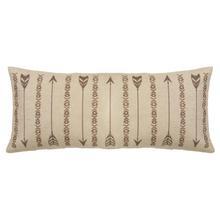 Sedona Long Rectangles & Arrows Burlap Pillow