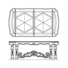 Rectangular Leg Dining Table (3 pc)