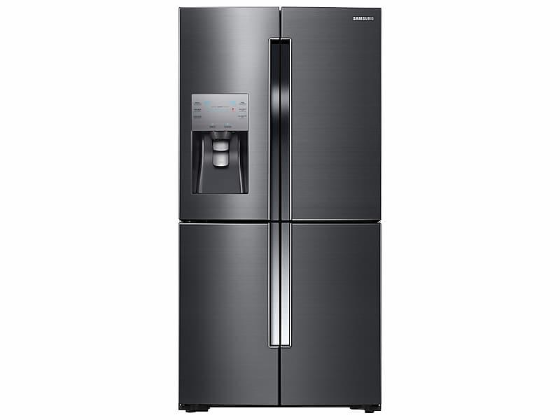Samsung23 Cu. Ft. Counter Depth 4-Door Flex™ Refrigerator With Flexzone™ In Black Stainless Steel