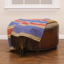 See Details - Denim Red & Blue Striped Throw Blanket, 50x60