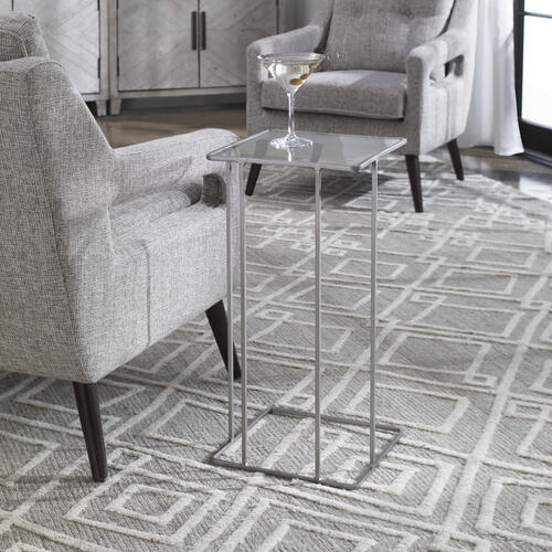 Cadmus Accent Table, Pewter