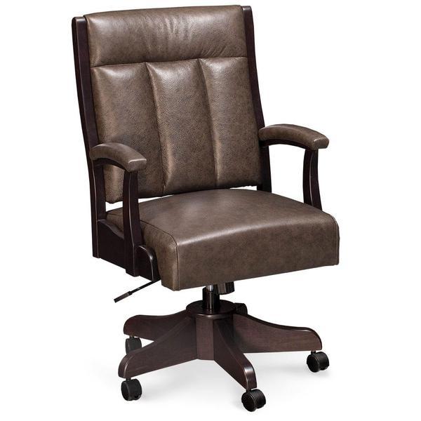 See Details - Buckingham Arm Desk Chair, Fabric Cushion Seat