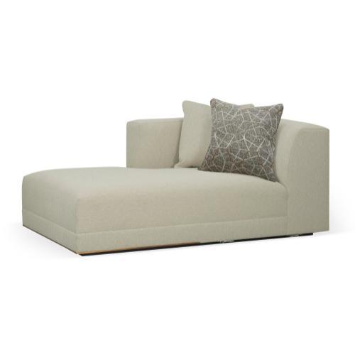Geometric Left Arm Chaise Lounge