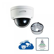 2MP Ultra Intensifier® Dome IP Camera with Junction Box 3.6mm fixed lens, white housing