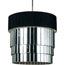 AF Lighting 6740 6-Light Pendant- Black Shade, 6740-6H