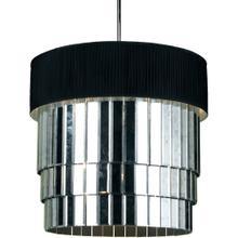 AF Lighting 6740 6-Light Pendant- Black Shade, 6740-6H