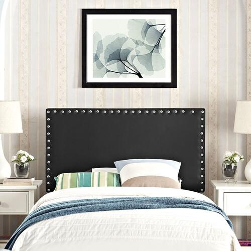 Phoebe Twin Upholstered Vinyl Headboard in Black
