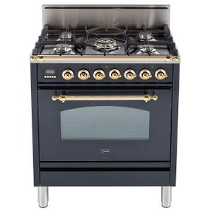 30 Inch Matte Graphite Natural Gas Freestanding Range