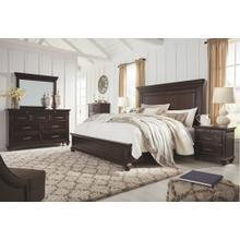 6 Piece Set (3 Piece King Storage Bed, Dresser, Mirror and Nightstand)