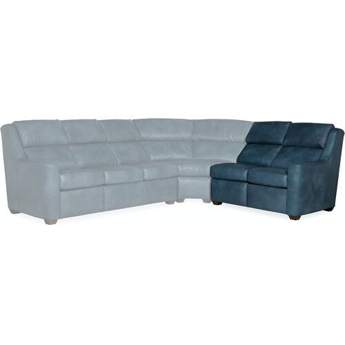 Bradington Young Loewy RAF Loveseat Recline At Arm w/Articulating Headrest 941-56