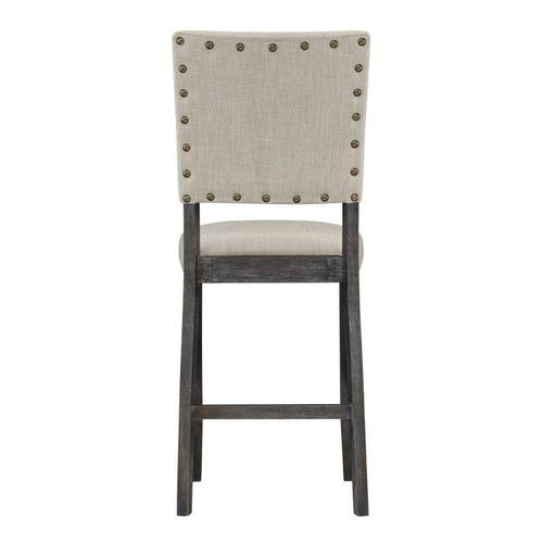 Auburn 2-Pack Counter Height Chairs, Charcoal