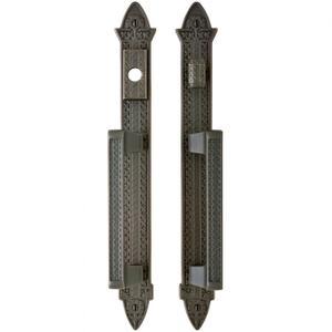 "Briggs Entry Sliding Door Set - 2"" x 15"" Silicon Bronze Brushed Product Image"