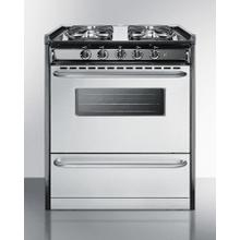 """Product Image - Slide-in Gas Range In 30"""" Width, With Stainless Steel Doors and Four Sealed Burners; Replaces Tnm230r"""