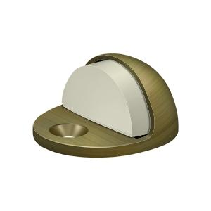 Dome Stop Low Profile, Solid Brass - Antique Brass