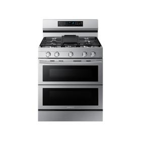 6.0 cu. ft. Smart Freestanding Gas Range with Flex Duo™, Stainless Cooktop & Air Fry in Stainless Steel