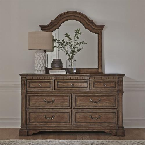 King Opt Panel Bed, Dresser & Mirror, Chest, Night Stand