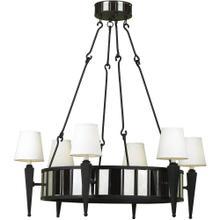 AF Lighting 6790 6-Light Drum Chandelier, 6790-6H