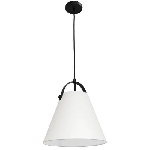 Product Image - 1lt Emperor Pendant Matte Black W/ Off White Shade