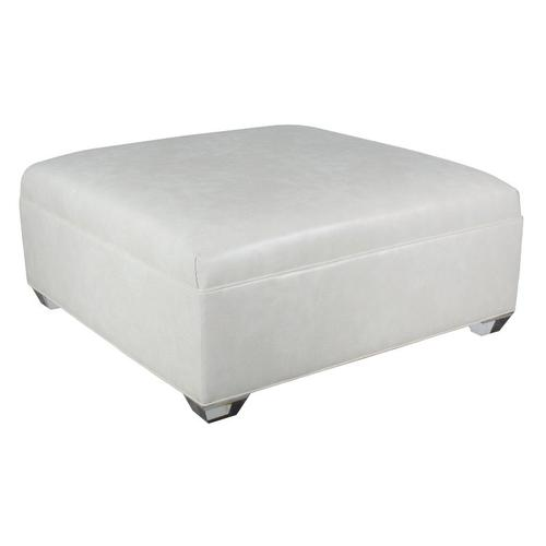 Cox Manufacturing - Square Ottoman With Seamed Button Top/ Tapered Leg