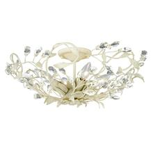 "Jardin 17-3/4"" Semi-Flush Mount French Cream"